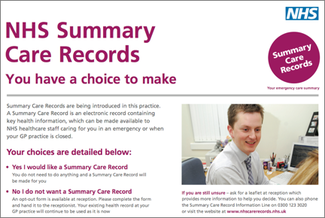 Summary Care Record Information Poster