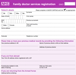 Permanent Patient Registration Form (GMS 1)